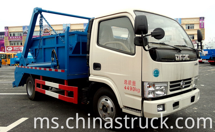 3Ton swing arm refuse truck