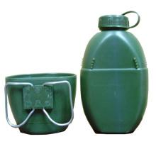 Recipiente plástico de la botella de agua del ejército militar
