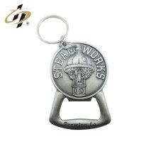Best-seller des produits antique argent personnalisé en alliage d'aluminium ouvre-bouteille porte-clés
