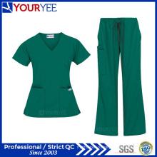 Дешевые Индивидуальные моды больницы медицинской Униформа скрабы для ухода (YHS113)