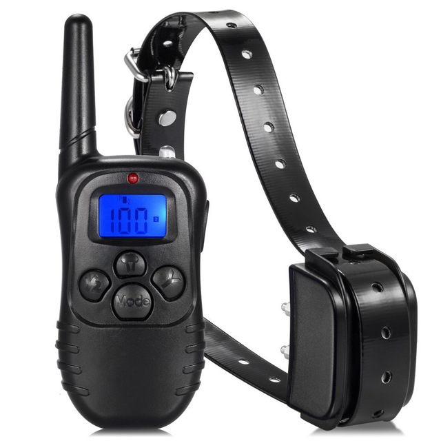 300m Remote Dog Training Tpu Collar Rechargeable And Waterproof Vibration Shock Electronic Electric 100level Anti Bark Jpg 640x640