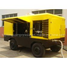 Compresor de aire móvil del rollo del tornillo rotatorio móvil del motor diesel (TDS-21/20 250kw)