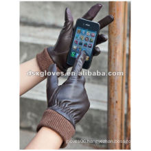 winter leather touch screen Gloves