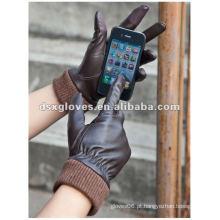Moda lambskin luvas touchscreen para as mulheres
