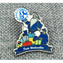 Promotional Santa Claus Christmas Celebration Enamelled Pin / Badge