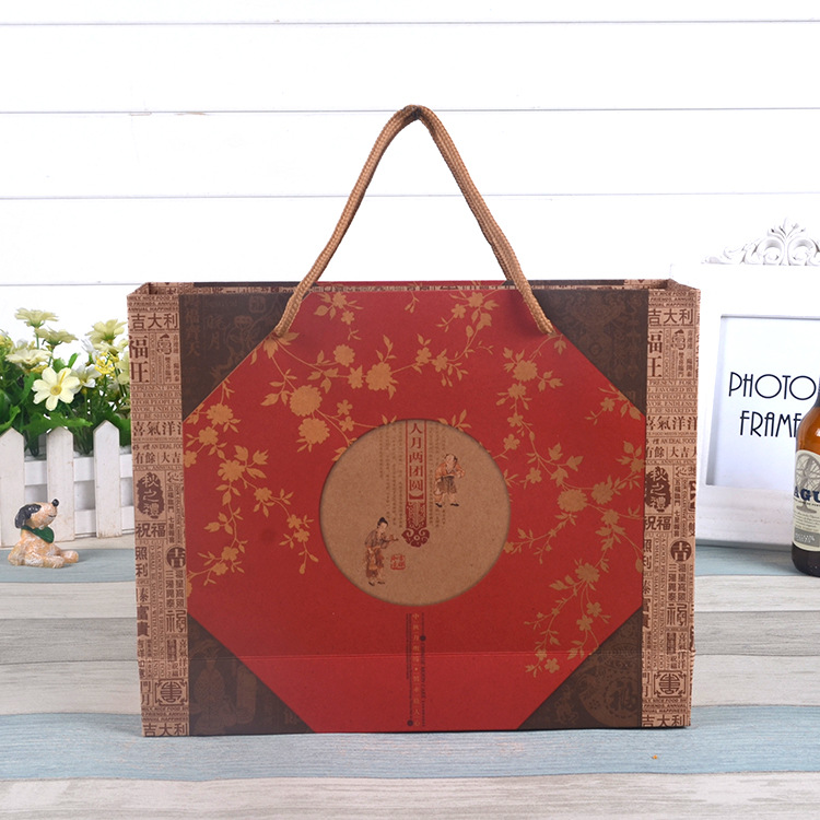 Wholesale Custom Print Logo Cheap Kraft Brown Paper Bag