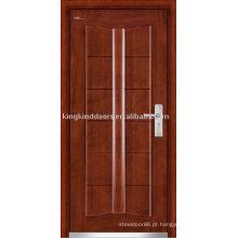 Porta de segurança forte de porta blindada de aço porta de madeira Exterior (JKD-203)