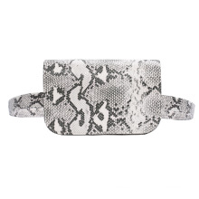 New outdoor magnetic snakeskin fashion lady bag cross the waist for women daily use storage stuff waist bag