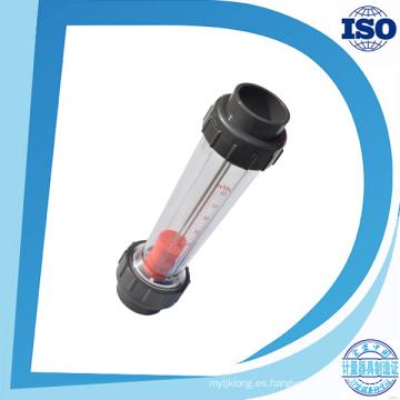 Medidor de flujo de agua de material plástico