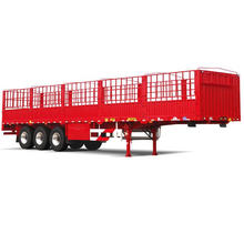 ISO CCC 3 Axles 34t Stake Truck Trailer Hot Sale