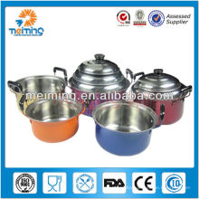 10Pcs colorful stainless steel halogen cooking pot