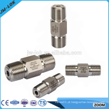 Válvula de retenção de bola flutuante miniatura de aço inoxidável