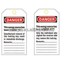 Etiquetas de bloqueo de PVC BD-8611