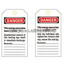 PVC Lockout Tags BD-8611