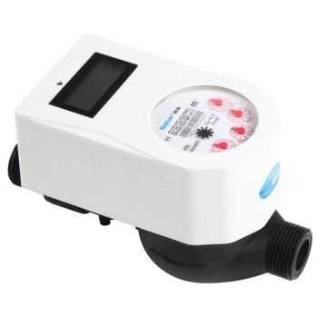Medidor de água digital inteligente de cartão RF de plástico