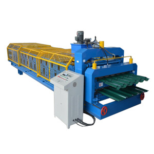 2 profiles glazed ibr sheet roll form machine
