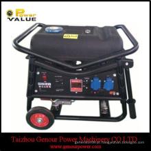 China Power 168F-1 motor 2.5kw Gerador de gasolina PLG GAS início elétrico COM BATERIA cobre WIRE