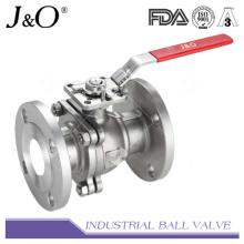 Válvula de esfera de extremidade flangeada de alta quantidade 2PC