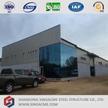 Edificio de oficinas prefabricado de estructura de metal con taller