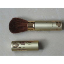 Leaf Design Rose Silvery Retractable Brush