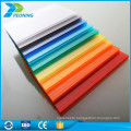 Thin double wall transparent plastic roof polycarbonate hollow sheet