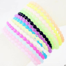 Promotional Gift Colorful Custom Cheap Silicon Jewelry Bracelets