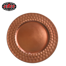 Rose Gold Diamond Plastic Decoration Plate