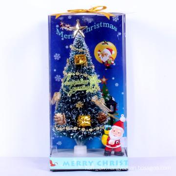High quality fiber optic mini artificial christmas tree for car