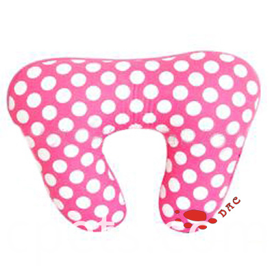 pink round point neck pillow