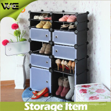 Black Large Plastic Corner Drawing Room Shoe Cabinet