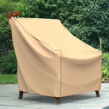 100% Waterproof Tan Outdoor Chair Covers Seat Furniture Cover