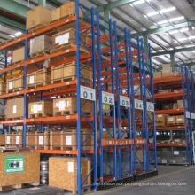 Sistema de armazenamento de racking móvel para indústria de logística / rack de auto pesados com trilho de guia
