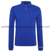 Long Sleeve Man Polo Shirts in Blue (ELTMPJ-201)