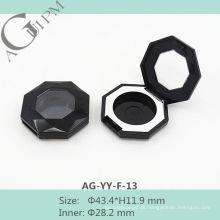 Bonito uma grade Octagon sombra de olho caso com janela AG-YY-F-13, embalagens de cosméticos do AGPM, cores/logotipo personalizado