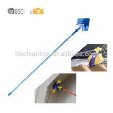 360 degree swivel corner brush, 0 risk eaves broom,9years factory ceiling broom,