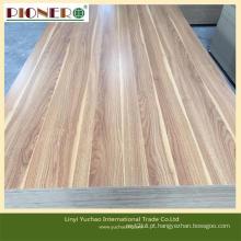 Placa de madeira do MDF da melamina da grão para a mobília com preço baixo