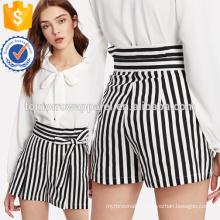 High Waist Pinstripe Shorts Manufacture Wholesale Fashion Women Apparel (TA3022B)