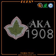 Custom AKA 1908 hotfix rhinestone motif transfers