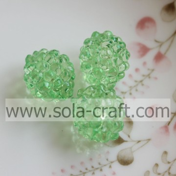 Green Color Low Price Transparent Acrylic Berry Beads For Necklace
