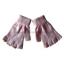 Gants / mitaines magiques à moitié en doigts en acrylique tricotés personnalisés