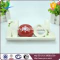 """home decoration solid """" NOEL"""" shape ceramic sign"""