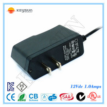 EU ac 2 pin plug 12v 1a dc power supply