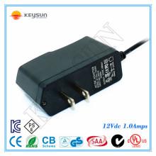 EU AC 2-контактный штекер 12v 1a постоянный ток питания