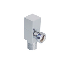 Bathroom Brass Hose Double Washing Machine Chrome Plated Hot Water Two Way Angle Valve