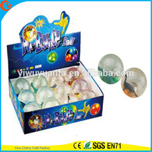 Design de novidades Christmas'gift LED Rubber 75mm Dinosaur Light-up Bouncy Ball