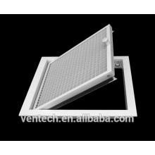 Aluminum access door for ventilation system trap door eggcrate linear trap door access ventilation door