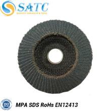 Disque abrasif de coupe de rabat de fabricants de la Chine avec le support de fibre de plastique pour le polissage