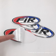 Imprimir troquelado pegatinas de vinilo personalizado parachoques
