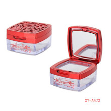 Rose Pattern Compact Powder Case Wih Mirror