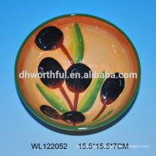 Креативный дизайн керамическая миска керамическая оливковая чаша для продажи